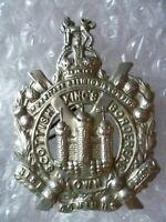 WW1 Kings Own Scottish Borderers Cap Badge KC WM 2 Lugs Super ANTIQUE Original