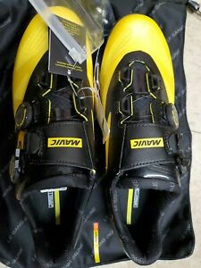 Mavic Crossmax SL ultimate mountain MTB shoe yellow US10.5