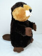 """Beaver 12"""" Plush brown, Aurora"""