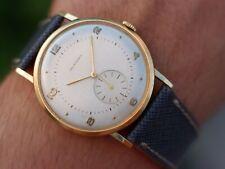 Orologio Movado Calatrava 40s cal 127 oversize 18k GOLD vintage linen dial