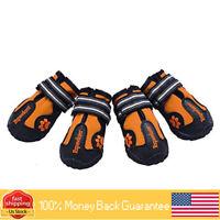 Comfortable Dog Winter Outdoor Shoe 4PCS Warm Adjustable Dog Shoe Anti-Slip