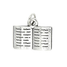 Sterling Silver Thin Open Book Charm