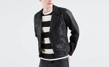 Levi's Leather Moto Jacket Black size medium
