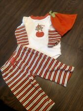 Gymboree 6-12 months owl pumpkin fall halloween thanksgiving 3 piece outfit