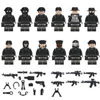MINIFIGURES SWAT MILITARI set di 12 pz ESERCITO SOLDATI ARMI CUSTOM LEGO POLIZIA