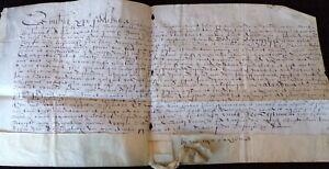 Rare Latin Indenture, Reign of Elizabeth I, Norfolk, 1568