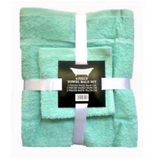 Juego de toallas de baño y albornoces color principal verde con la toalla de lavabo
