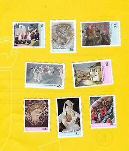 """ALBANIEN 1967 - postfrisch**MNH - MiNr. 1201-1208  """"Kunst verschiedener Epochen"""""""