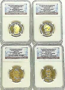 2010 S Presidential Dollar 4 Coin Proof Set NGC PF70 Ultra Cameo