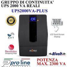 UPS 2000 VA Gruppo di Continuità Protezione ADSL  Dati RJ-45 LCD 4 sciuco Pellet