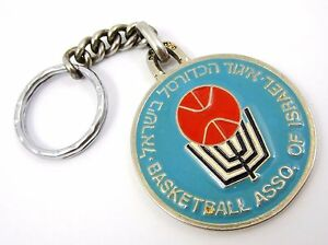 Basketball Association of Israel  Enameled Old Sport Key Chain Huge Very rare