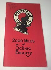Antique Northern Pacific Railway 2,000 Miles of Scenic Beauty Booklet & Map! US