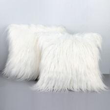 "18"" Shaggy Long Fur Faux Soft Fluffy Cushion Covers Sofa Bed Throw Pillow Case"