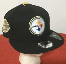 New Era Pittsburgh Steelers ~ NFL 6-TIME CHAMPIONS 9FIFTY CAP SNAPBACK BLACK HAT