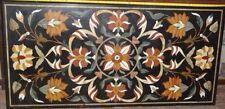 """48"""" x 24 """"  Pietra Dura Inlay Art Marble Dining Table Top For Home Decor Garden"""