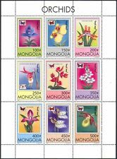 Mongolia 1997 Orchids/Butterflies/Flowers/Plants/Insects/Nature 9v sht (b5020)