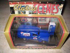 1:43 Scale Road Champs Classic Scenes Blue Pepsi Panel Truck