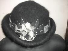 Handmade Wool Felt Hat w/Beads   Hat Hautees   6506