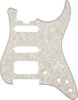 Genuine Fender American ELITE Strat/Stratocaster Pickguard HSS, WHITE MOTO 4-Ply