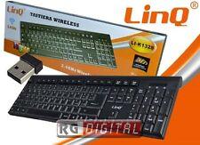 TASTIERA WIRELESS 2.4 GHz Linq LI-K1328 con ricevitore e tastierino numerico