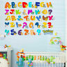 Pokemon Go 26 Alphabets 0-9 Numbers Kids Wall Stickers Nursery Decal Decor Mural