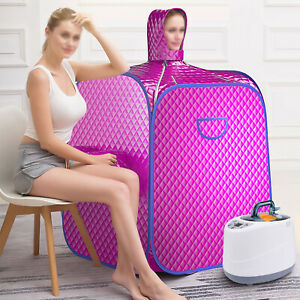 Portable Personal Sauna Home Steam Tent Folding Indoor Spa Weight Loss Detox UK