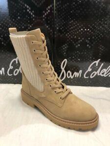 Sam Edelman Women's Lydell Combat Boot, Sesame