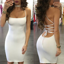 SEXY Women's Bodycon Bandage Party Cocktail Club Mini Dress Summer Sundress S~XL