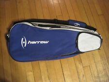Harrow squash tennis 3 racquet pro bag purple silver