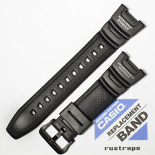 CASIO black rubber watch band for SGW-100J, 10316600