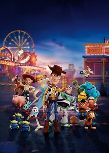 TOY STORY 4 TEXTLESS DISNEY PIXAR POSTER A4 A3 A2 A1 CINEMA MOVIE LARGE FILM ART