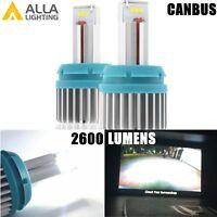 Alla Lighting LED 6000K 7441 CANBUS Error Back Up Light Bulbs Reverse Lamp White