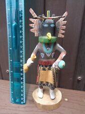 """VTG Hopi Crow Dancer Kachina Doll 8"""" Signed George Hunch"""