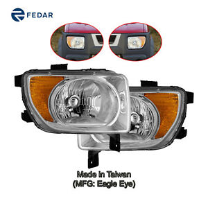 Headlight Lamp Fit 2003 2004 2005 2006 Honda Element Pair
