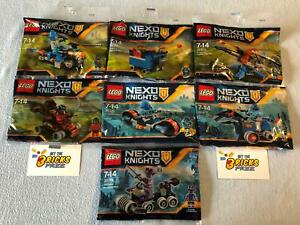 Lego Nexo Knights Lot of 7 30371 - 30378 Polybags New/Sealed/Retired/Hard 2 Find