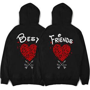 Best Friends Pullis beste Freundinnen BFF Hoodies Freundschafts Pullover Herzen