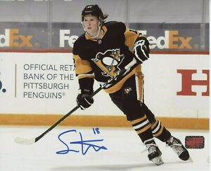 Sam Lafferty Pittsburgh Penguins signed 8x10 Home Jersey