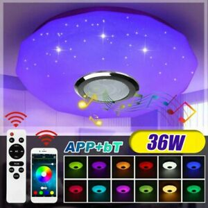LED RGB Deckenlampe mit Bluetooth Musik Lautsprecher Fernbedienung APP Dimmbar