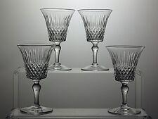 "VINTAGE STUART CRYSTAL ""STU14"" CUT GLASS SHERRY GLASSES SET OF 4 - SIGNED"
