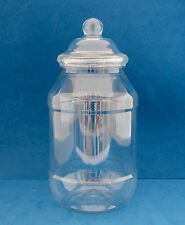 3 x 1000ml Clear Plastic Round Jars with Domed Screw Caps