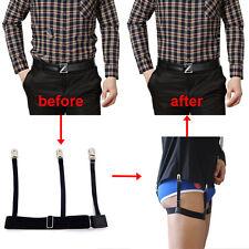 Hidden Suspenders Shirts Tucked Adjustable Strap Garters Shirt Holders Neat Belt
