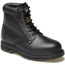 MENS DICKIES CLEVELAND SAFETY BOOTS SIZE UK 7 WORK BLACK LEATHER FA23200