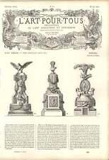 1863 de la Fosse Estufa ejemplares columna Tambor frontón Garland obra de arte