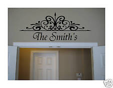 Wall DECOR Art Wrought Iron Vinyl personalized decal