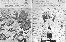 """Baby Dolls Clothes Knitting & Crochet Pattern Book 5 Sizes 7"""" to 12"""" Dolls"""