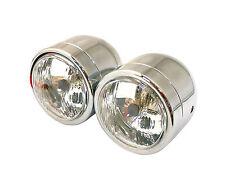 Dominator twin Chrome Headlights Halogen Motorcycle Headlamps Streetfighter