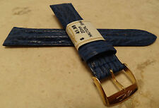 ZRC France Blue Padded Nautical Shark 20mm Watch Band Gold Tone Buckle $41.95