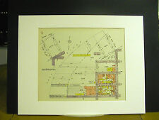 Brooklyn Map 1929 Matted Green Freeman Eagle West Franklin Commercial Pink Blue