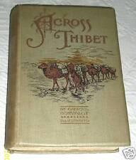 ACROSS THIBET Gabriel Bonvalot 1892 Explorer Tibet 106 Illustrations Vintage Map
