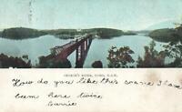 EARLY 1900'S VINTAGE GEORGE'S RIVER, COMO POSTCARD - sent to Birchs Bay, TAS